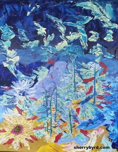 Sherry Byrd Wall Art - Painting - Blue Bird by Sherry Byrd