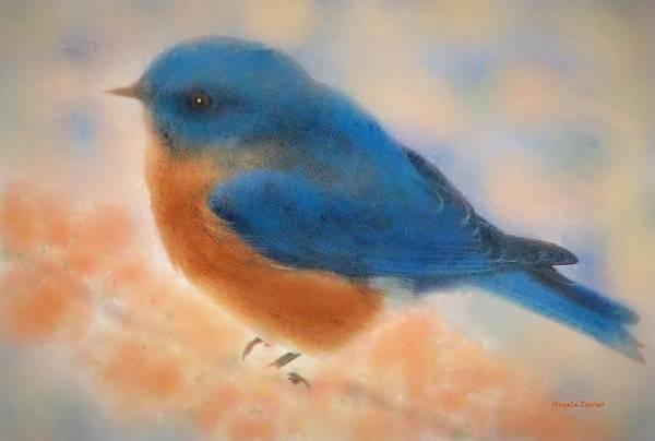 Digital Art - Blue Bird Spring by Angela Davies