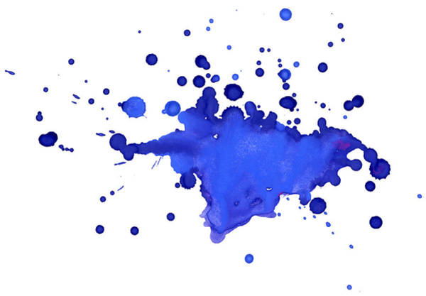 Art And Craft Photograph - Blue Blobs On The Paper by Alenchi