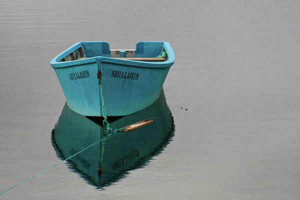 Photograph - Blue Boat Floating by Tatiana Travelways