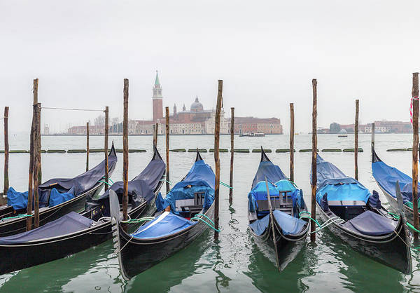 Photograph - Blue Boats On The Grand Canal by Georgia Fowler