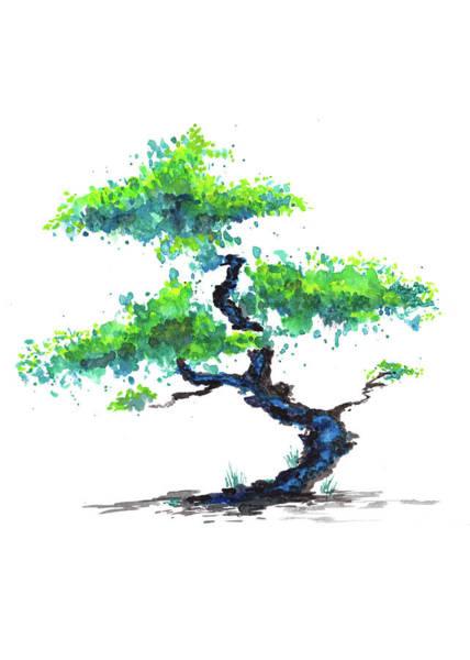 Painting - Blue Bonsai by ZeichenbloQ