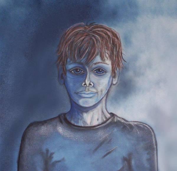Drawing - Blue Boy by Joan Stratton