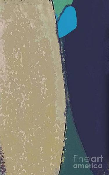 Wall Art - Mixed Media - Blue Boy - Vertical Abstract Art By Vesna Antic by Vesna Antic