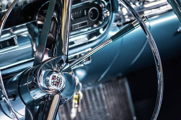 Photograph - Blue Cadillac by Stewart Helberg