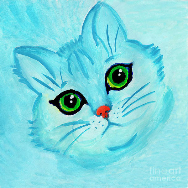 Painting - Blue Cat by Irina Dobrotsvet
