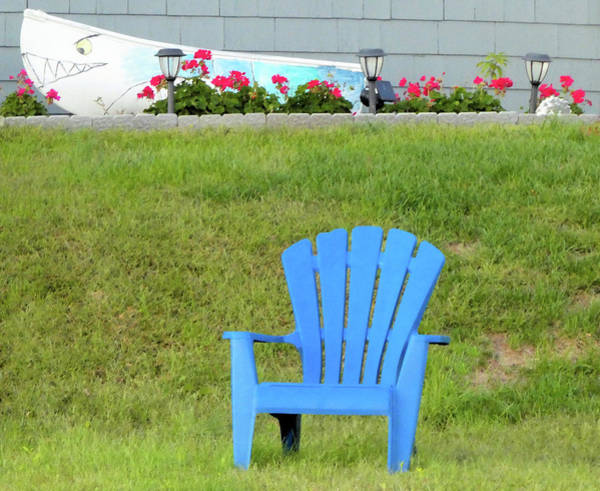 Photograph - Blue Chair by Linda Henne