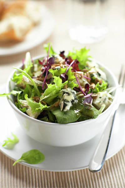 Leaf Photograph - Blue Cheese, Beatroot And Leaf Salad by Phil Ashley