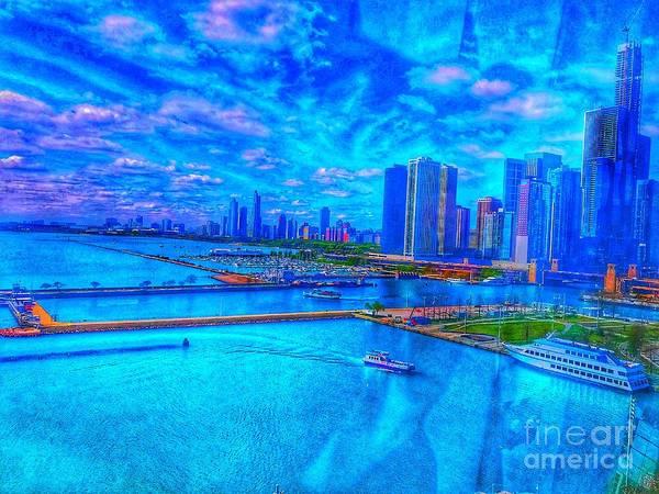 Wall Art - Photograph - Blue Chicago Skyline by Whitney Davison