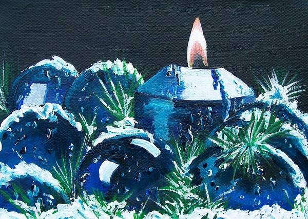 Painting - Blue Christmas  by Sharon Duguay