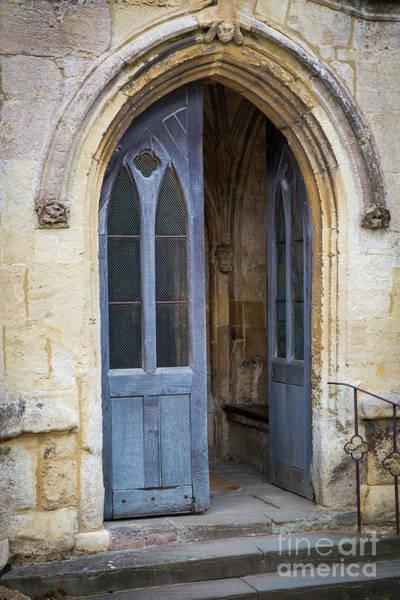 Photograph - Blue Church Doors by Brian Jannsen