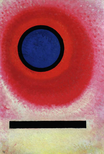 Wall Art - Painting - Blue Circle II -  Blauer Kreis II by Wassily Kandinsky