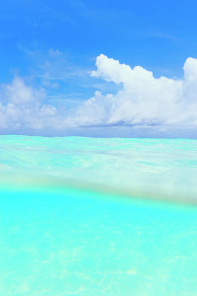 Okinawa Photograph - Blue Clear Water With Horizon by Imagewerks