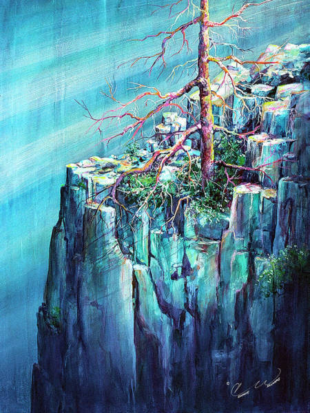 Painting - Blue Cliff Tree by Connie Williams