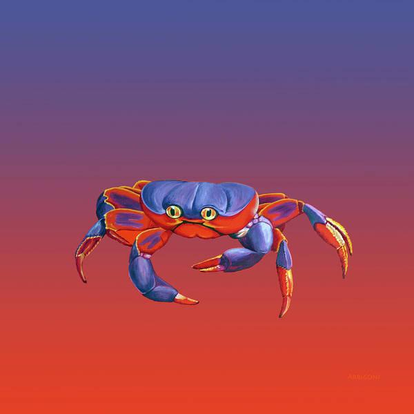 Painting - Blue Crab Crawling by David Arrigoni