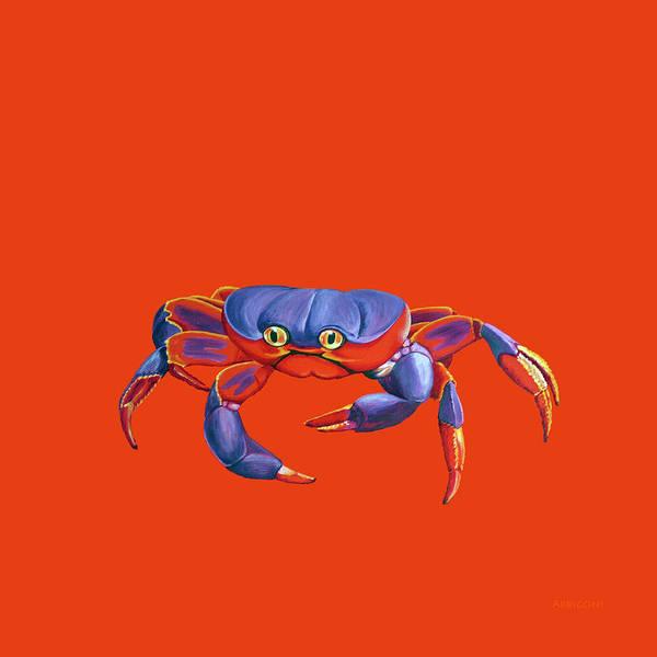 Painting - Blue Crab Orange Sand by David Arrigoni