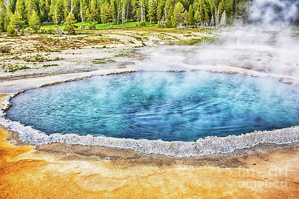 Photograph - Blue Crested Pool At Yellowstone National Park by Tatiana Travelways