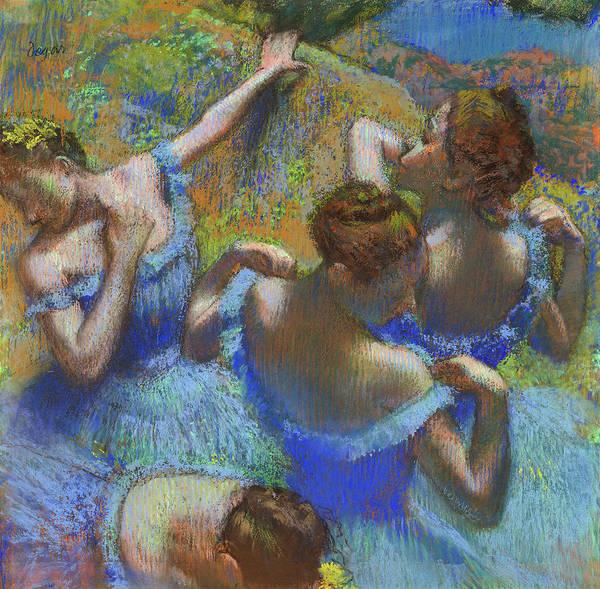 Wall Art - Painting - Blue Dancers,1898 by Edgar Degas