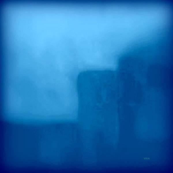 Painting - Blue Day - The Sound Of Silence  by VIVA Anderson