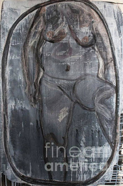 Mixed Media - Blue Death Body by Siobhan Dempsey