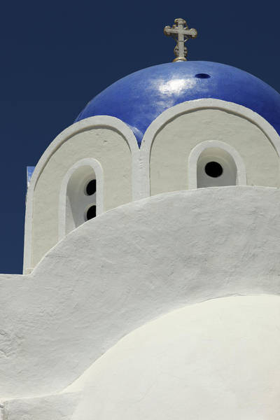Wall Art - Photograph - Blue Domed Roof, Oia, Santorini by Dietmar Temps, Cologne