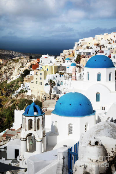 Photograph - Blue Domes Of Oia by Scott Kemper