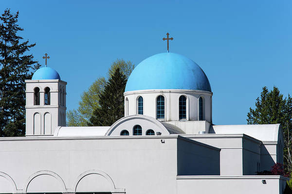 Photograph - Blue Domes Of St Sophia by Tom Cochran