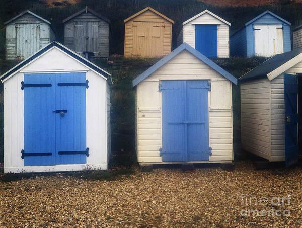 Photograph - Blue Door Beach Houses by Doc Braham