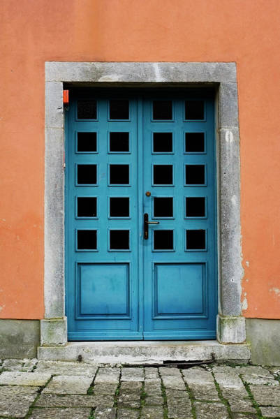 Handle Photograph - Blue Doorway by Mcerovac