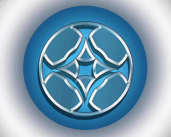 Digital Art - Blue Dot 1 by Chuck Staley