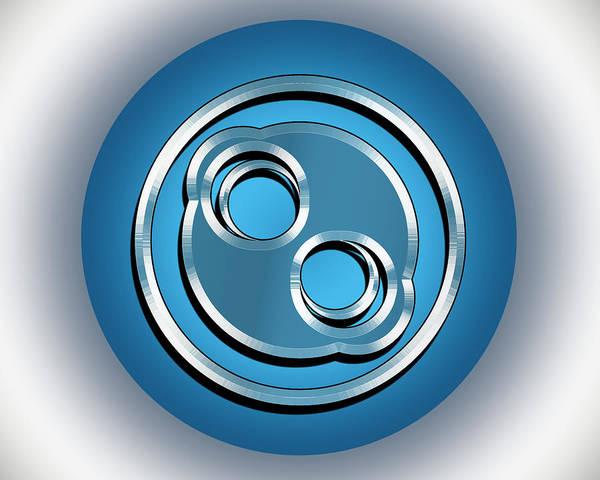Digital Art - Blue Dot 3 by Chuck Staley
