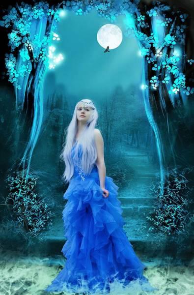 Blue Dress Painting - Blue Dress by ArtMarketJapan