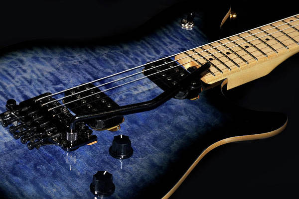 Photograph - Blue Electric Guitar by Mike Murdock
