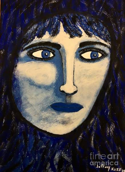 Wall Art - Painting - Blue Eyed Woman by Jeffrey Koss