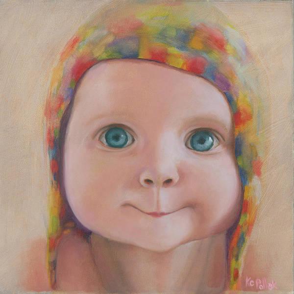 Eyeballs Painting - Blue Eyes by KC Pollak