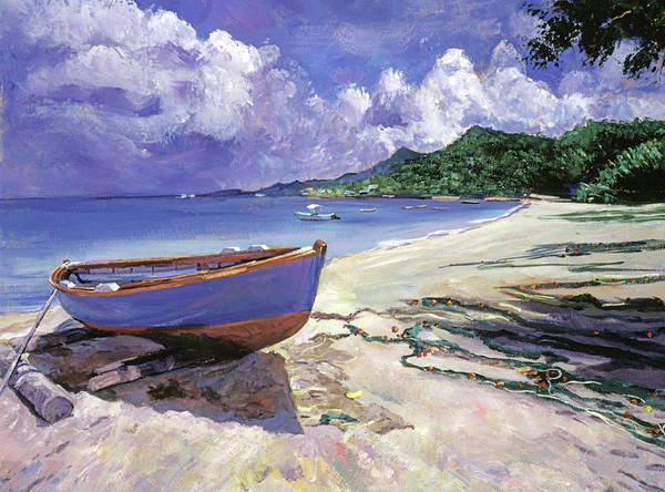 Painting - Blue Fish Boat by David Lloyd Glover