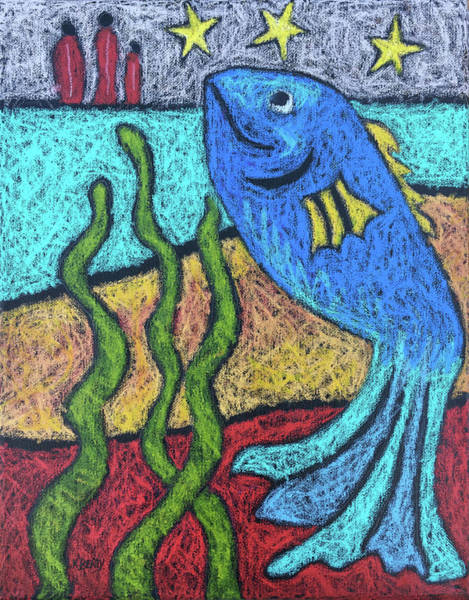 Painting - Blue Fish by Karla Beatty