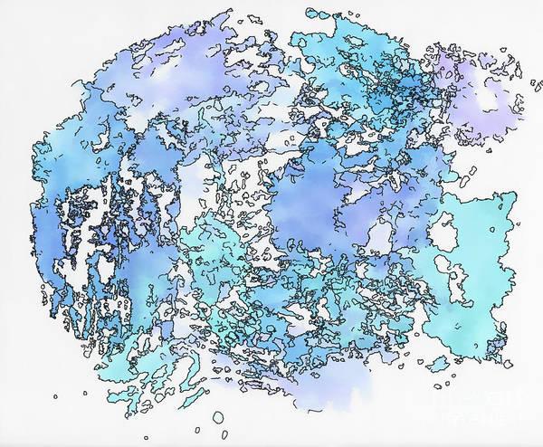 Painting - Blue Fish - Watercolor Abstract   by Kerri Farley