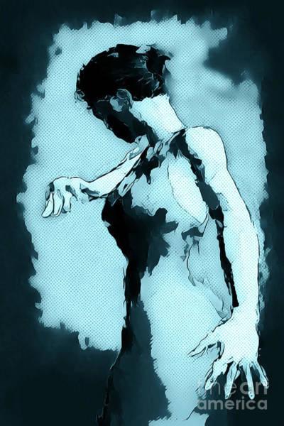 Spanish Culture Wall Art - Painting - Blue Flamenco by John Edwards