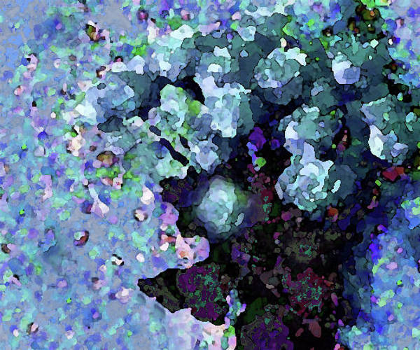 Mixed Media - Blue Floral Fiesta by Corinne Carroll