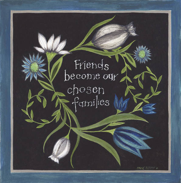 Wall Art - Painting - Blue Flowers I by Cindy Shamp