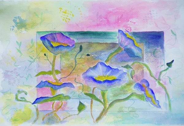 Wall Art - Painting - Blue Flowers by Joanne Napoli