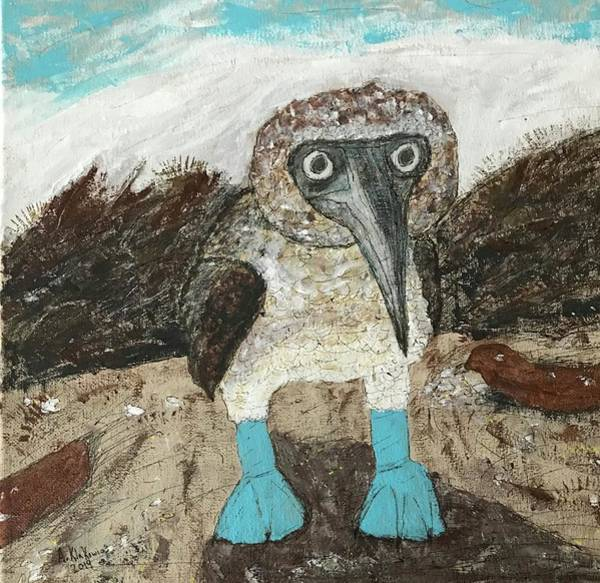Boobies Painting - Blue-footed Booby by Alison Klakowicz