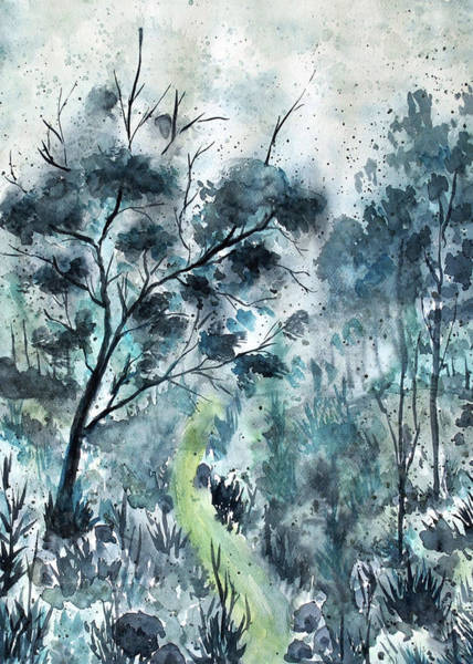 Painting - Blue Forest by ZeichenbloQ