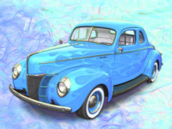 Digital Art - Blue Ghost Flames by Rick Wicker