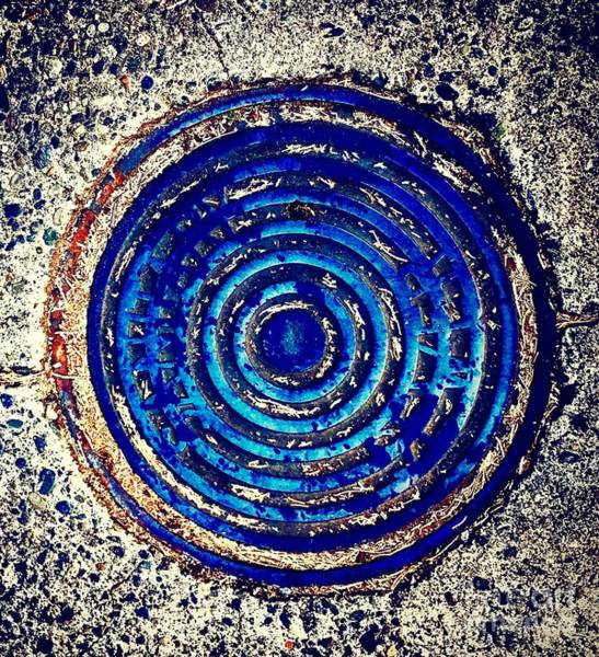 Photograph - Blue Grate by Suzanne Lorenz