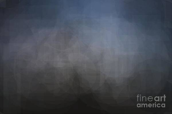 Blue Gray Abstract Background With Blurred Geometric Shapes. Art Print
