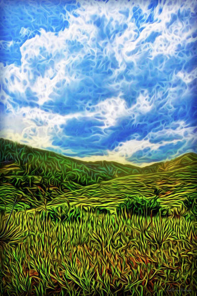 Digital Art - Blue Green Morning by Joel Bruce Wallach