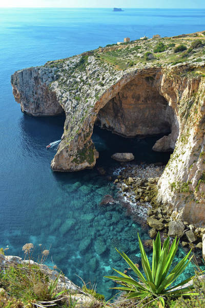 Grottos Photograph - Blue Grotto by Karl Borg