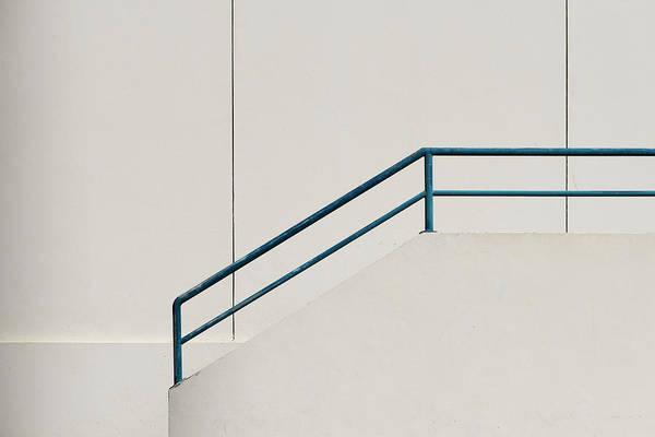 Photograph - Blue Hand Rail by Stuart Allen